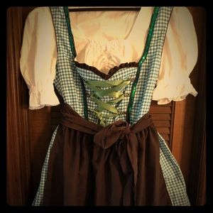 NWOT German Dirndl - blue and white full outfit